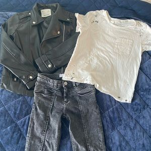 Zara and AG moto outfit set